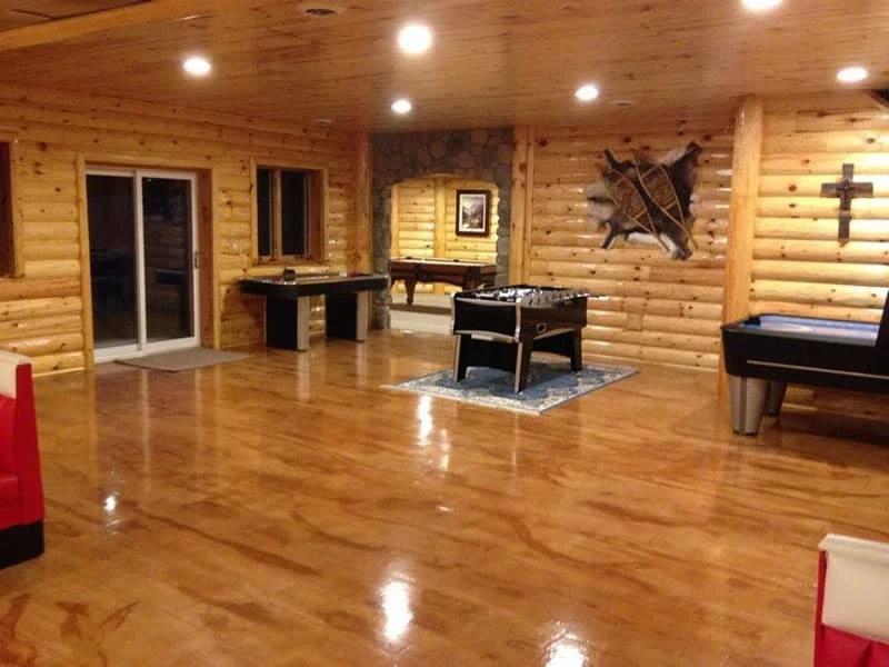 Interior with epoxy