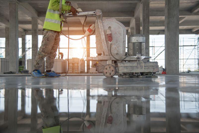 finish wet concrete